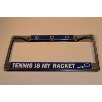 Metal Tennis License Plate Holder