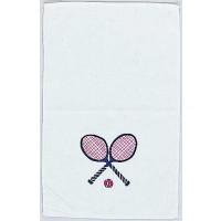 Clarke Towel-Crossed Racquets-Navy/Red