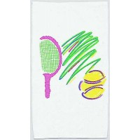 Clarke Towel-Neon Racquet & Ball