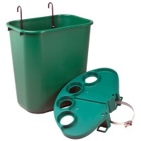 Court Tray and Basket Set - Green