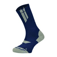 Babolat Men's Team Big Logo Socks - Estate Blue/High Rise (Size 9.5-11.5)