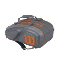 Tour V 15 Pack Grey/Orange Tennis Bag