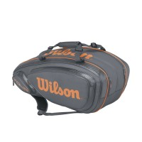 Tour V 9 Pack Grey/Orange Tennis Bag