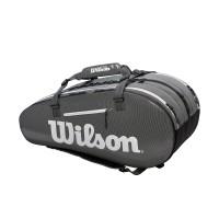 Wilson Super Tour 3 Compartment Tennis Bag - Black/Grey