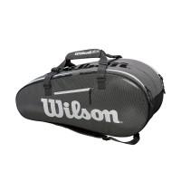 Wilson Souper Tour 2 Compartment Large Tennis Bag - Black/Grey