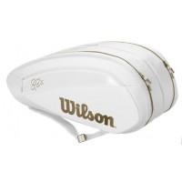 Wilson Federer DNA 12 Pack Tennis Bag White / Gold