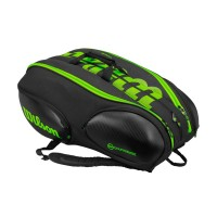 Wilson Blade 15 Pack Tennis Bag Black and Green