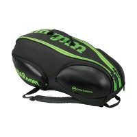 Wilson Blade 9 Pack Tennis Bag Black and Green
