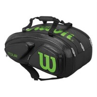 Tour V 15 Pack Black/Lime Tennis Bag