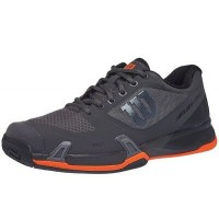 Wilson men's Rush Pro 2.5 Tennis Shoe - Magnet / Black / Orange