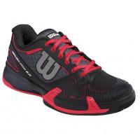 Wilson Women's Rush Pro 2.0 Tennis Shoe Coal and Black