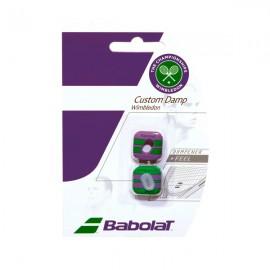 Babolat Custom Damp Wimbledon - 2 Pack  - Green-Purple
