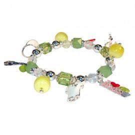 Tennis Multi-Charm Bracelet