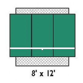 Bakko Backboard Economy Flat 8x12