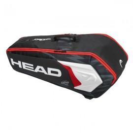 Head Djokovic 6 Racquet Combi - Black/White/Red - 2018