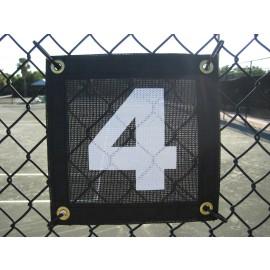 Tennis Court Numbers Mesh