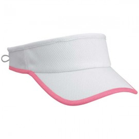 Moisture Wicking Cool Visor White with Pink Trim