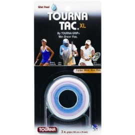 Tourna Tac Overgrip Multi Color 1 ea; blue, pink, white