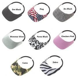No Headache Original Fabric Visor - Pattern Print
