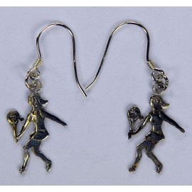 Silver Lady Player Earrings