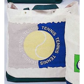 "Canvas Tote ""Tennis/Tennis/Tennis"""