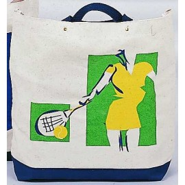 "Canvas Tote ""Lady Player"""