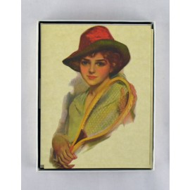 Box Notes - Lady/Hat/Racquet