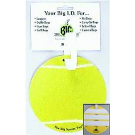 """The Big Tag-Tennis  4 1/2"""" Luggage tag"""