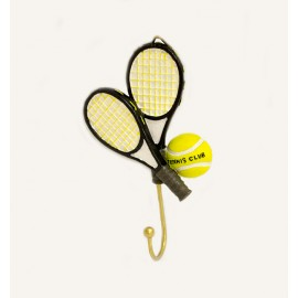 Tennis Ball and Racquet Hook