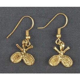 Crossed Racquets Earrings