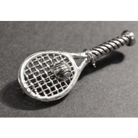 Racquet w/Ball Pin, Silver