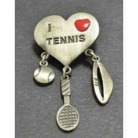 """I Heart Tennis"" Pin"