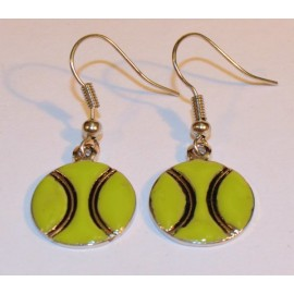 Dangle Tennis Ball Earrings