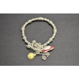 Tennis Three Charm Bracelet