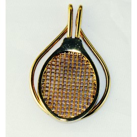 Gold Plate Racquet Money Clip