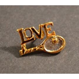 """""""Love"""" w/Racquet Pin"""