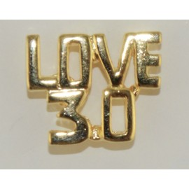 "Tennis ""Love 30"" Pin, Gold"