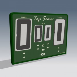 Top Score Digital Net Mounted Self Scoring Tennis Scoreboard-Green