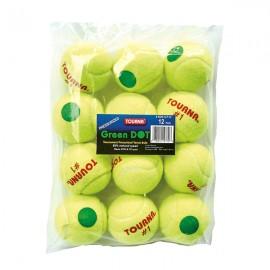 Tourna Kids Green Dot balls - Pressurized 12 Pack