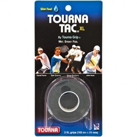 Tourna Tac Overgrip XL - 3 Pack - Black