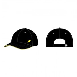 Babolat Basic Logo Cap - Black/Blazing Yellow