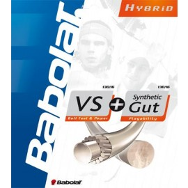 Babolat Hybrid VS 16G/Synthetic Gut 16G String