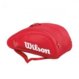Wilson Federer DNA 12 Pack Racquet Bag - Red - 2017